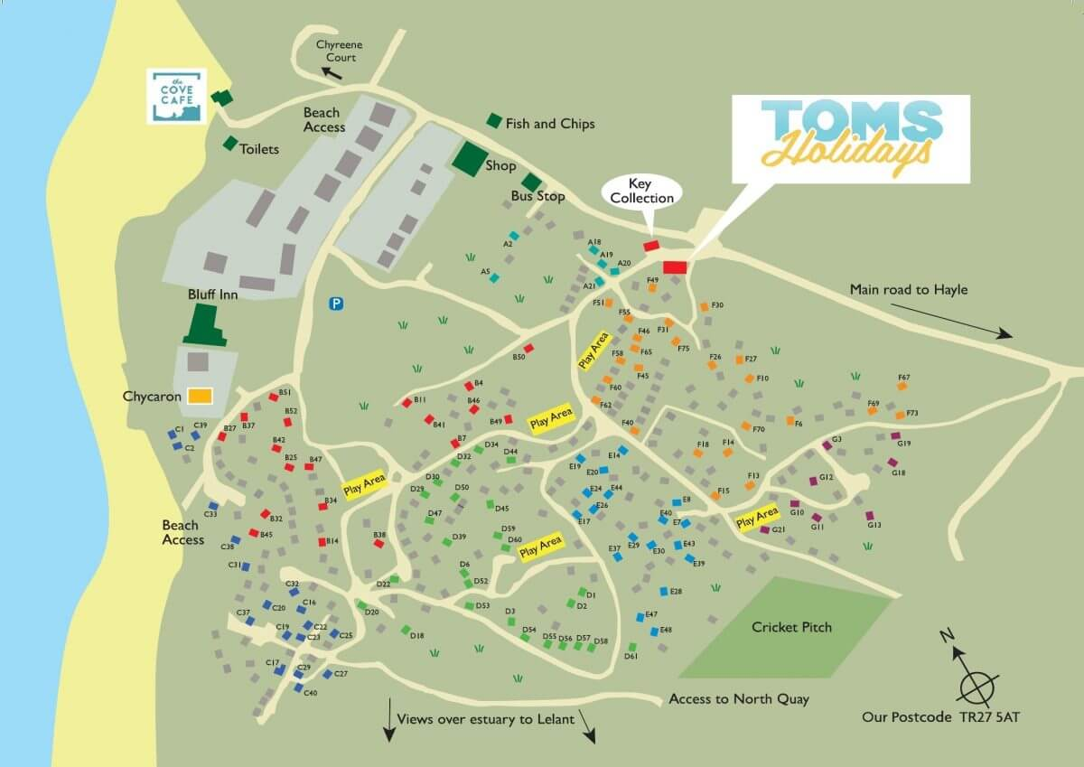 Riviere Towans Park Map